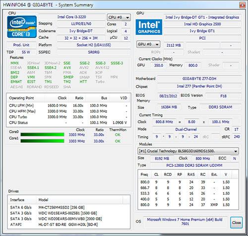 Les programmes Hwinfo32/64 passent en version 4.32