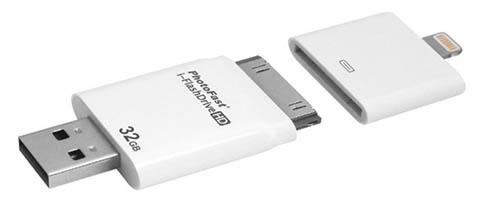 i-FlashDrive HD : une clé usb spéciale pour augmenter la capacité de stockage d'un iPad ou d'un iPhone