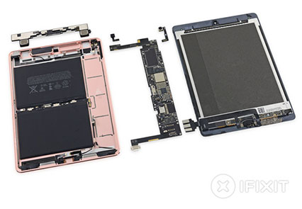 iFixit démonte l'iPad Pro de 9,7 pouces et le note 2 sur 10