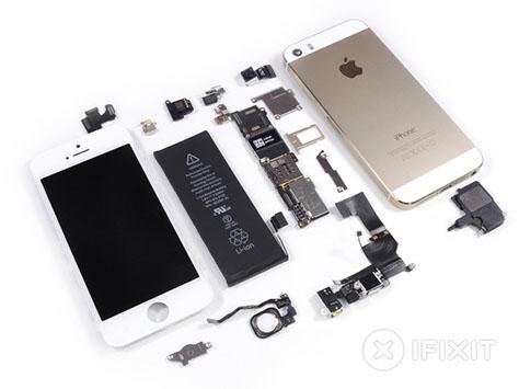 iPhone 5S : l'appareil a été mis en pièce par iFixit !