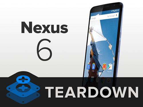 iFixit désosse le Nexus 6 et lui décerne un 7 sur 10