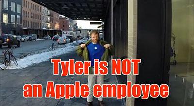 Insolite / vidéo : Quand un (faux) vendeur raconte n'importe quoi dans un Apple Store
