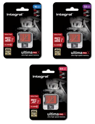 Integral lance les Ultima Pro X : des cartes micro SDXC à la norme UHS-I classe 3