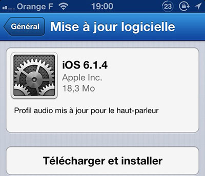 Apple sort iOS 6.1.4 mais uniquement pour l'iPhone 5