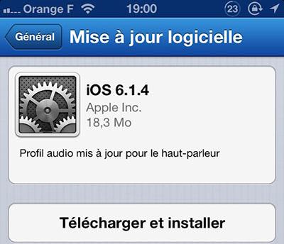 Apple sort iOS 6.1.4 mais uniquement pour l'iPhone 5