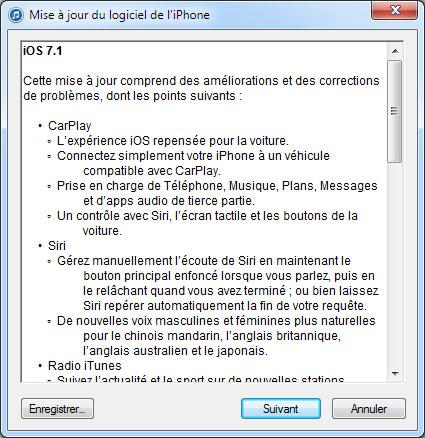 iOS 7.1 est disponible en téléchargement