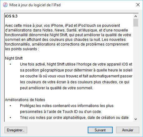 iOS 9.3 est disponible pour iPhone, iPad et iPod Touch