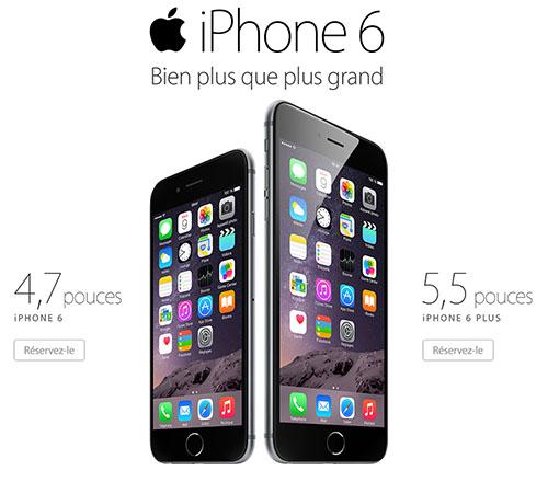 Les précommandes démarrent pour l'iPhone 6 et l'iPhone 6 Plus (Maj2)