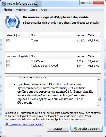 iTunes est maintenant disponible en version 11.1.2