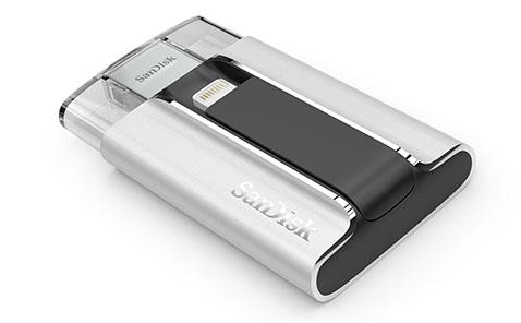 SanDisk iXpand : la clé usb / Lightning offre maintenant une capacité de 128 Go