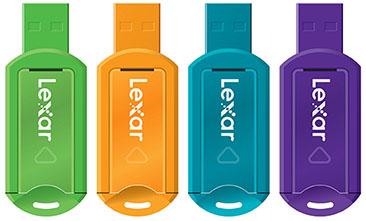 Lexar lance une série de clés usb au design très coloré