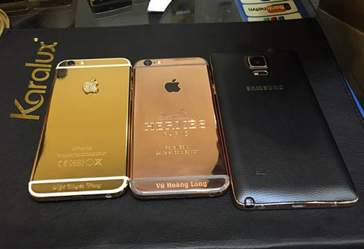 Luxe : quand l'iPad Air 2, l'iPhone 6, le Galaxy Note 4 et même l'Apple Watch se parent d'or….