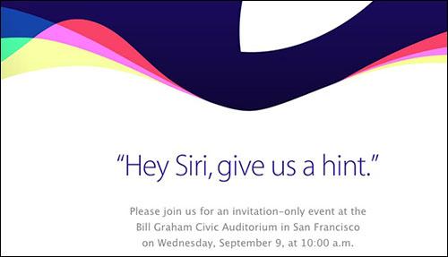 C'est officiel : Apple organise une conférence de presse le 9 septembre