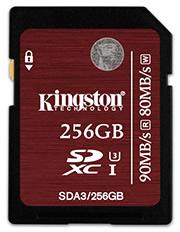 Kingston ajoute des modèles de 128 et 256 Go à sa gamme de cartes mémoires SDA3