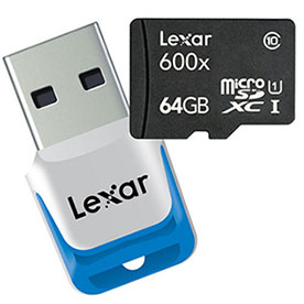Lexar lance une carte de 64 Go au format micro SDXC