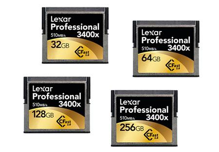 Lexar dévoile ses cartes mémoires CFast 2.0 3400x (soit 510 Mo/s en lecture)