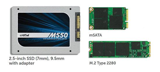 Crucial met en ligne le firmware MU02 pour les SSD M550