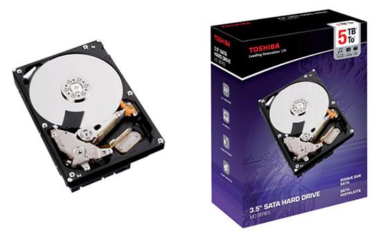 Des disques durs de 4 et 5 To à 7200 tpm chez Toshiba