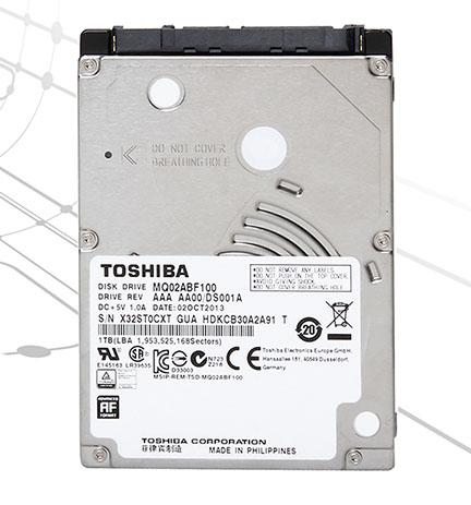 Toshiba présente le MQ02ABF, un disque dur de 1 To de 2,5 pouces et de 7 mm d'épaisseur