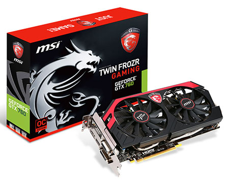 Bons Plans : la GeForce GTX 760 Twin Frozr 4 Go de MSI à 199,95 euros livrée