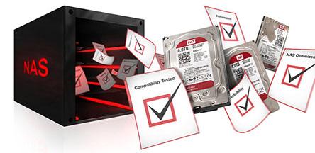 Synology indique avoir testé avec succès  les nouveaux disques durs WD RED avec ses NAS