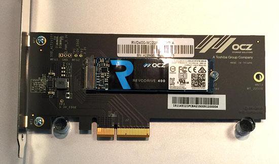 OCZ a aussi dans ses cartons le RevoDrive 400 : un SSD PCI Express / M.2.