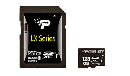 Les cartes mémoires LX de Patriot offrent maintenant une capacité de 128 et 256 Go