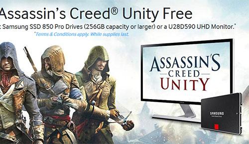Samsung offre le jeu Assassin's Creed Unity avec ses SSD 850 Pro mais uniquement aux Etats-Unis