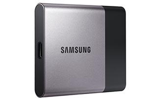 Samsung dévoile les SSD T3 portables : jusqu'à 2 To de capacité, USB 3.1 type C et 450 Mo/s en débits !