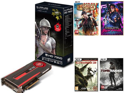 Soldes : 199,90 euros la Sapphire Radeon HD 7950