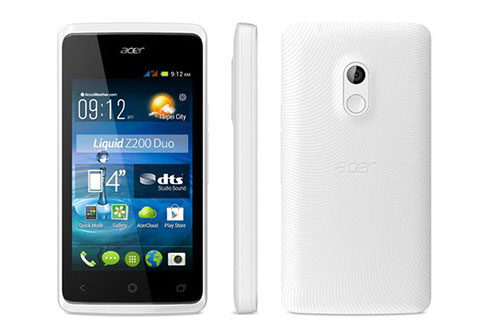 Soldes : 39 euros le smartphone 4 pouces Acer Liquid Z200