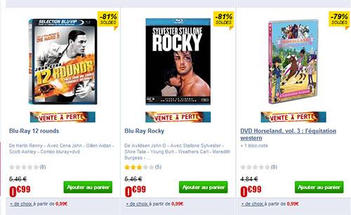 Soldes : une sélection de nanards à 1 centime le DVD et un peu plus…