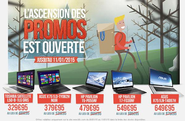 Soldes : 5 PC portables à prix cassés chez LDLC (à partir de 329,95€)