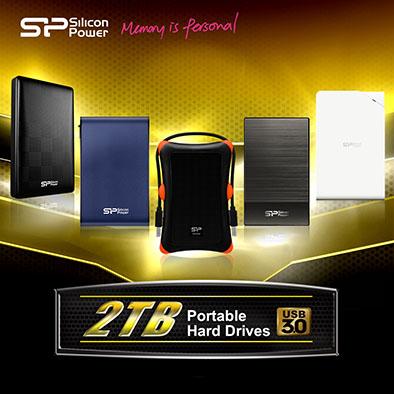 Silicon Power augmente la capacité de 5 disques durs USB 3.0 à 2 Tera Octets