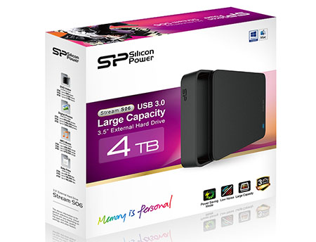 Stream S06 : un disque dur USB 3.0 de 4 To signé Silicon Power