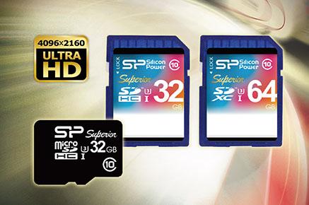 Silicon Power propose également des cartes SDHC et SDXC UHS-I de classe 3