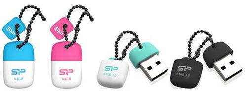 Deux nouvelles petites clés USB 2.0 et USB 3.0 en caoutchouc chez Silicon Power
