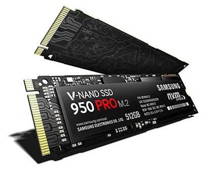 Samsung dévoile un SSD très véloce : le 950 Pro au format M.2 (Maj : dispo en précommande)