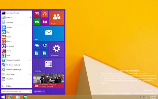 Le menu Démarrer de Windows 9 devrait ressembler à ça…