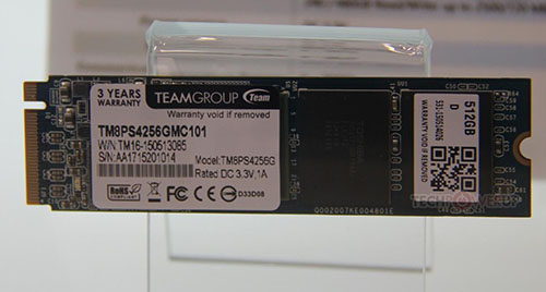 Computex : Team Group présente le SSD M.2. TM8PF7