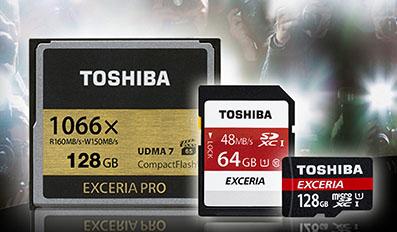 Toshiba lance trois nouvelles cartes mémoires dans sa gamme Exceria