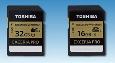 260 Mo/s pour les nouvelles cartes SDHC de Toshiba !