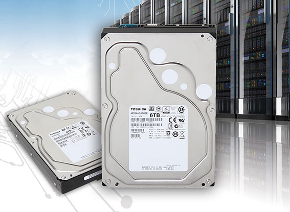 Toshiba étoffe sa gamme de disques durs MC04 avec un modèle de 6 Tera Octets