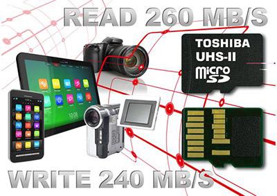 Les nouvelles microSD de Toshiba grimpent à 260 Mo/s en lecture