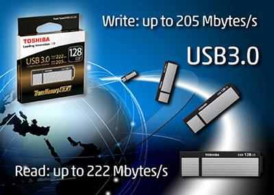 222 Mo/s pour la nouvelle clé usb TransMemory-EX II de Toshiba !