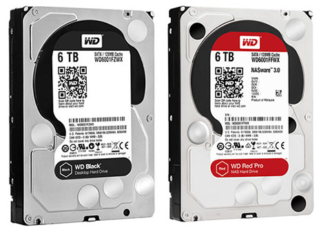 Western Digital décline ses WD Black et WD Red Pro en version 5 et 6 To