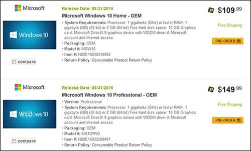 Rumeurs : à quels tarifs s'attendre pour Windows 10 ?