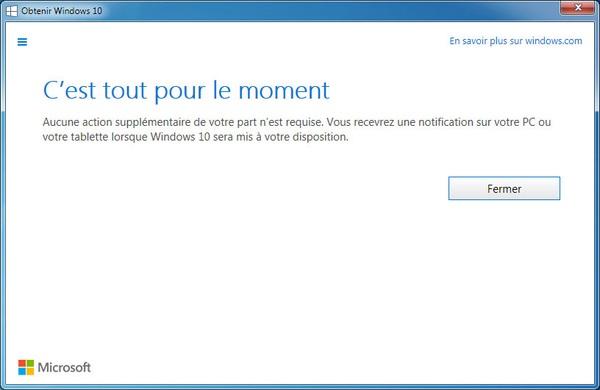 Il est maintenant possible de réserver sa mise à jour gratuite de Windows 10