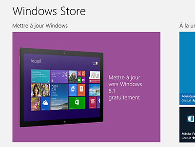 Windows 8.1 est disponible en téléchargement sur le Windows Store