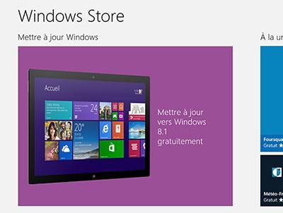 Windows 8.1 est disponible en téléchargement sur le Windows Store